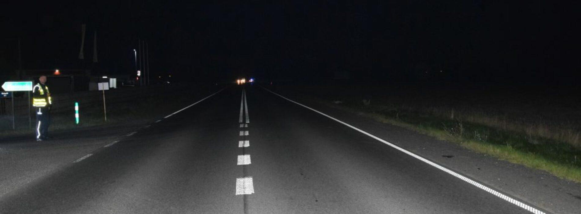 Śmiertelne potrącenie pieszego na DK-74